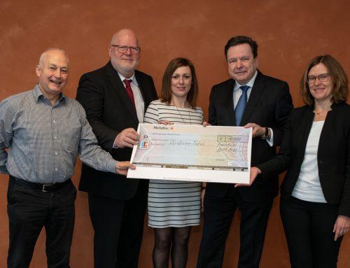 Freudiges Ereignis zum Jahresauftakt: Spende der Helaba über 10.000,– Euro