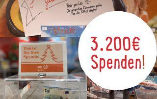 Fuhr-Kunden spenden 3.200 Euro